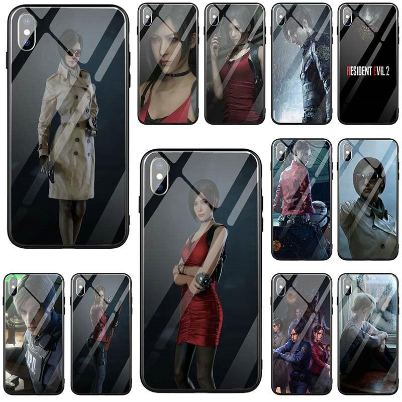 Закаленное стекло чехлы для телефонов iPhone 5 5S SE X XR XS Max 8 8Plus 7 7Plus 6 6S 6Plus 6SPlus regient Evil 2