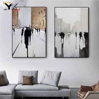 abstract british canvas painting nordic black white ins posters and prints cuadros wall art pictures for living room home decor