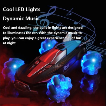 Pickwoo 4WD RC Cars Four Wheel Remote Control Gesture Sensing Stunt Drift Spray Car Lighting Vehicle off Road Model Gift for Kid