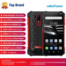 Ulefone Armor 6E Android 9.0 4GB 64GB Phone Octa Core 16MP 5000mAh Helio P70 4G Fingerprint ID Face Unlock NFC 6.2 Smartphone