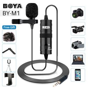 Петличный микрофон BOYA BY-M1 3,5 мм для смартфона, микрофон для записи видео DSLR для iPhone 12 Pro Max Live