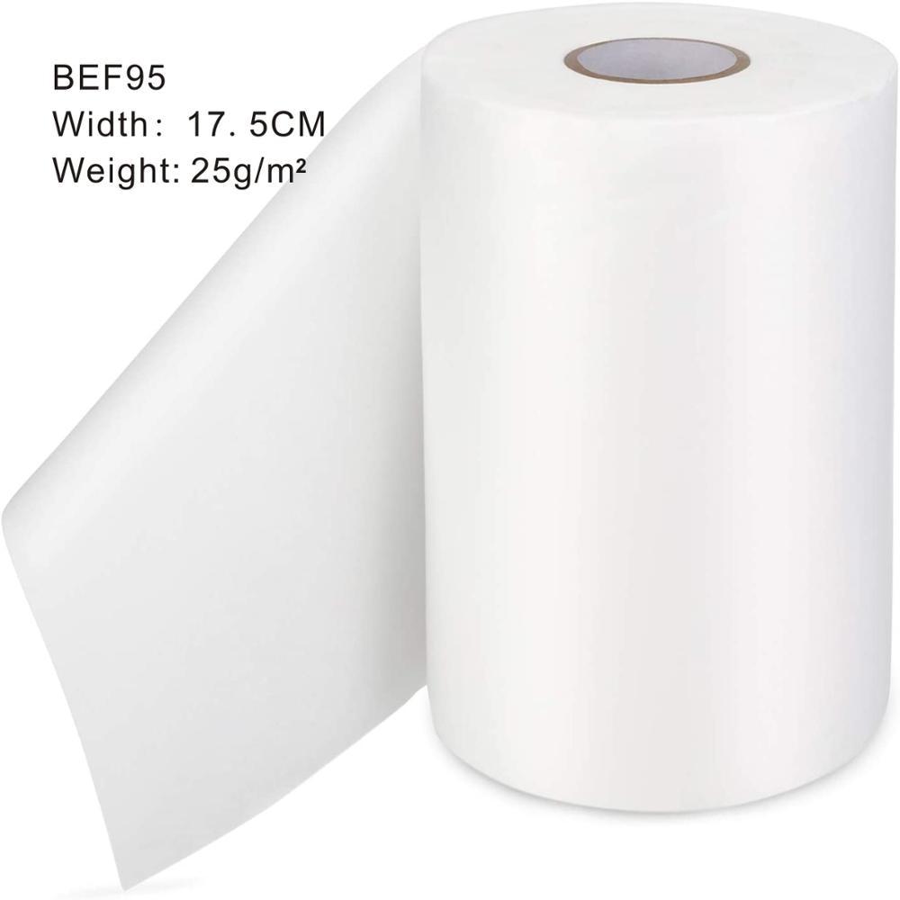 Tela de membrana de grado alimenticio fundido soplado polipropileno filtro de tela BEF95, ancho 17,5 cm, 25 gramos por metros cuadrados, paquete de 1kg