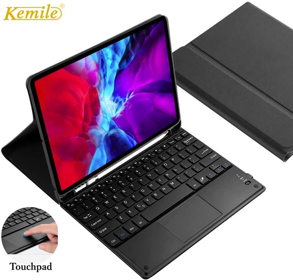 Funda para teclado con touchpad para iPad Pro 11, 2020 W, portalápices,...