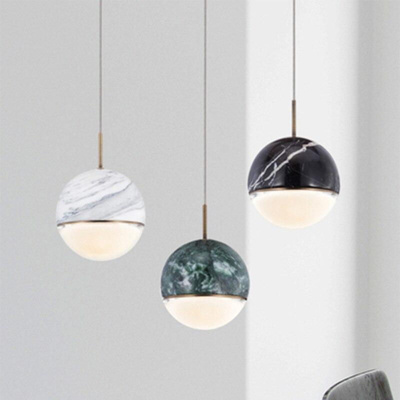 الحديثة led كرة زجاجية قلادة أضواء hanglamp المطبخ الطعام بار استوديو تعليق تركيبات إضاءة مطعم غرفة الطعام ضوء