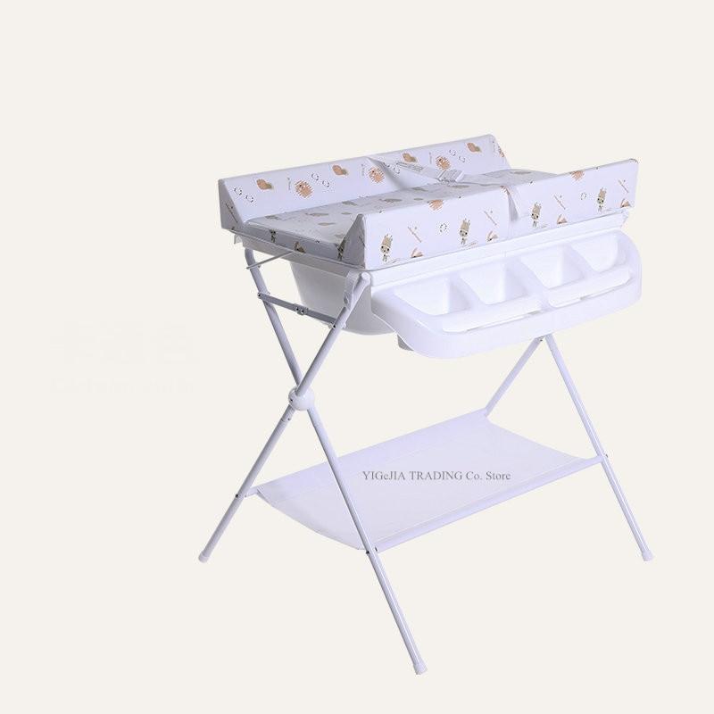 متعددة الوظائف استحمام الطفل الجدول ، محطة تغيير حفاضات حديثي الولادة مع الاسفنج ، منظم أدوات الأطفال للرضع