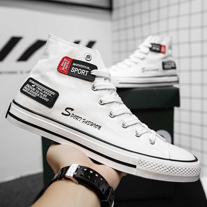 High Top Shoes Men Sneakers Summer Canvas Autumn Male 2021 Fashion