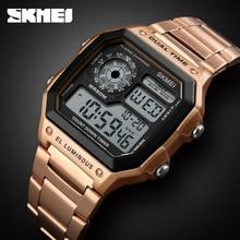 Skmei Muti-Funktionale LED Elektronische Uhr Wasserdicht Leucht Outdoor Männer Fitness Sport Digitale Uhr Männer Uhr Männliche Armbanduhr