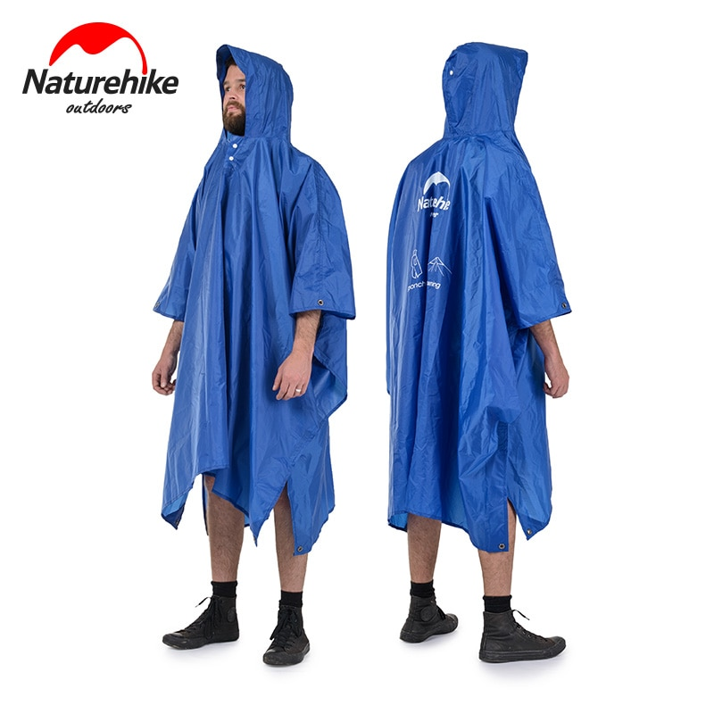 Chubasquero para exteriores Naturehike, Poncho plegable para lluvia para hombres y mujeres, impermeable portátil 20D/210T, impermeable multifunción para acampar