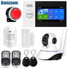 Draadloze Draad Thuis Wifi Gsm Alarmsysteem Kit App Controle Met Auto Dial Bewegingsmelder Alarmsysteem