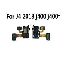 Earphone Jack Headphone Audio Microphone Flex Cable For Samsung Galaxy J4 2018 j400 j400f Audio jack