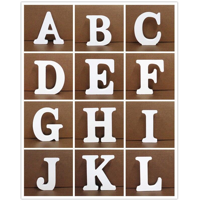 15cm letras en inglés DIY nombre diseño decoración para el hogar artesanía blanca adornos artesanales accesorios pie de la decoración de boda