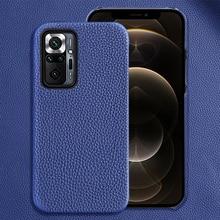 Genuine Leather Case For Poco X3 Pro Nfc F3 M3 Mi 10 11 Ultra 10t Lite Cover For Xiaomi Redmi Note 1