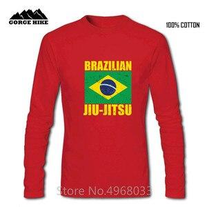 2019 Tren New Arrival Brazilian Jiu Jitsu T Shirt cotton Men T-Shirt Fashion Summer The New Custom BJJ Crewneck Loose Top Tshirt