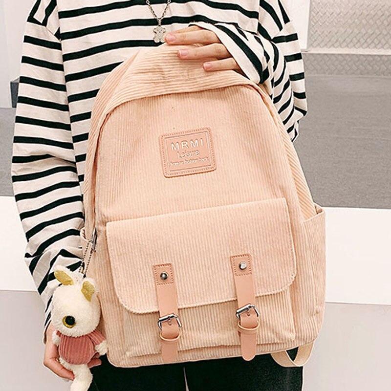 Mochilas de viaje informales de gran capacidad a la moda, mochilas de pana para mujer, mochilas escolares para adolescentes, mochilas para niñas