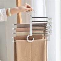 hanger space saver for pants trousers scarf tie belt clothes rack for wardrobe foldable adjustable hangers