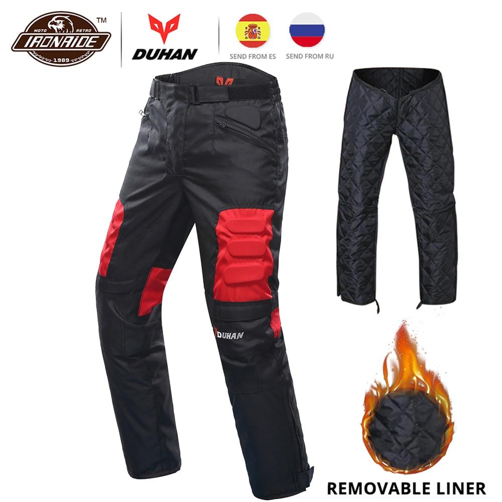 DUHAN Motorcycle Pants MotocrossTrousers Windproof Riding Pants Motorbike Pantalon Moto Pants Protective Gear for Men