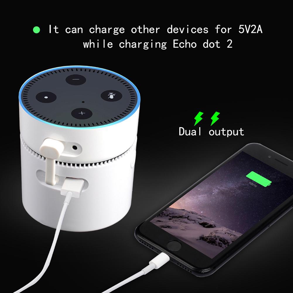 Carregador de bateria rápido 10000mah portátil carregador de banco de potência para apple android echo dot 2nd gen dispositivos powerbank bateria externa