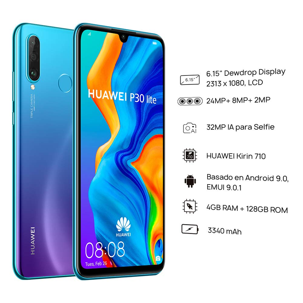 Original Global Version Huawei P30 Lite 4GB 128GB Mobile Phone 6.15 inch Smartphone 32MP 4*Cameras With Google Pay Android 9.0 enlarge