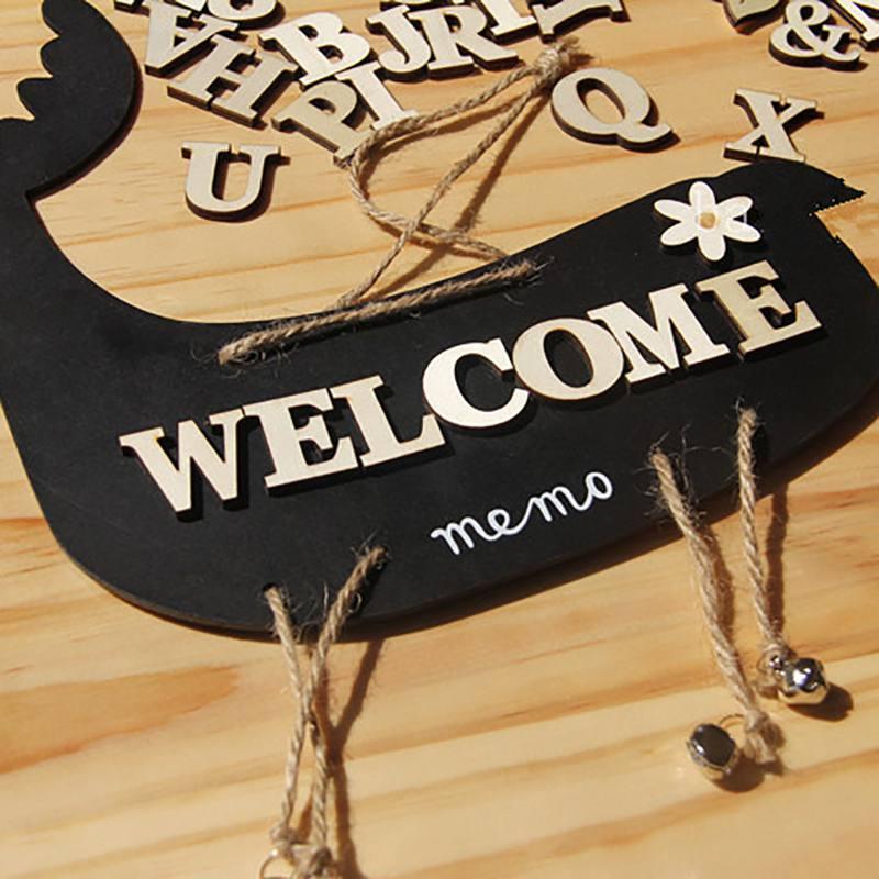 Criativo 1 saco Misturado A-z Alfabeto Número Carta De Madeira De Madeira Ofício Adesivo 3d Scrapbooking Decor Auto-adesivo diy Alfanumérico