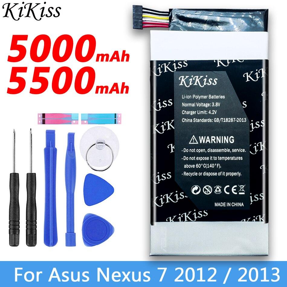Polímero de litio Tablet batería para Asus Nexus 7 2012, 2013 Nexus7/ MEMO PAD HD 7 ME173X HD7 ME173 K00B C11P1304 C11-ME370T C11-ME