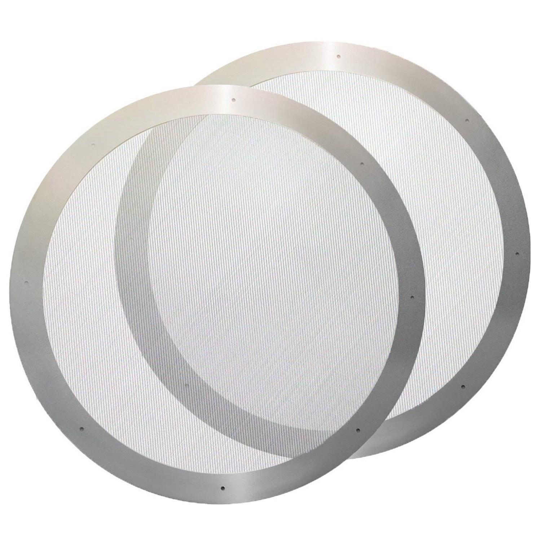 2 unids/lote de filtro de Metal de café reutilizable de malla de filtro de acero inoxidable para cafetera Aeropress accesorios de cocina