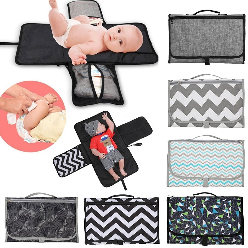 Baby changing mat Waterproof Mummy bag Baby stroller portable diaper changing pad travel table Changing Station Diaper Clutch