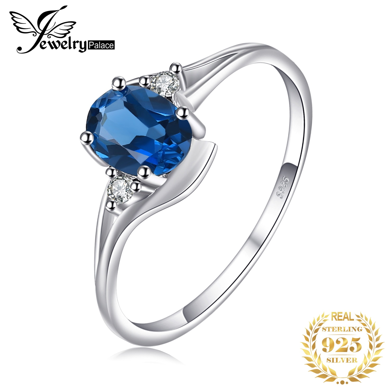 Jewelrypalace 本ロンドンブルートパーズリング 925 スターリングシルバーリング女性用婚約指輪シルバー 925 宝石ジュエリー