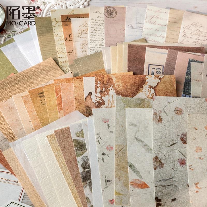 30 Pcs Vintage Letter Sheet Material Paper  Retro Junk Journal Planner Scrapbooking Decorative Diy Craft Background Paper