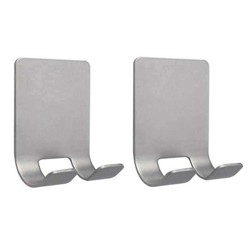 Soporte de gancho para afeitadora ABSF (paquete de 2) Gancho de almacenamiento autoadhesivo de acero inoxidable gancho para ducha para maquinilla de afeitar Kit de baño