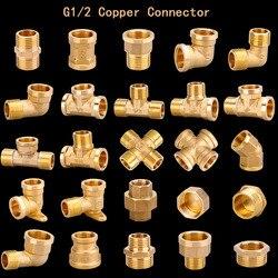 """Adaptador de rosca macho para bunda, de 1/2 """", 3/4"""", bsp, tipo de cobre, redutor, bunda, acoplador, tubo de água acessórios de encanamento"""