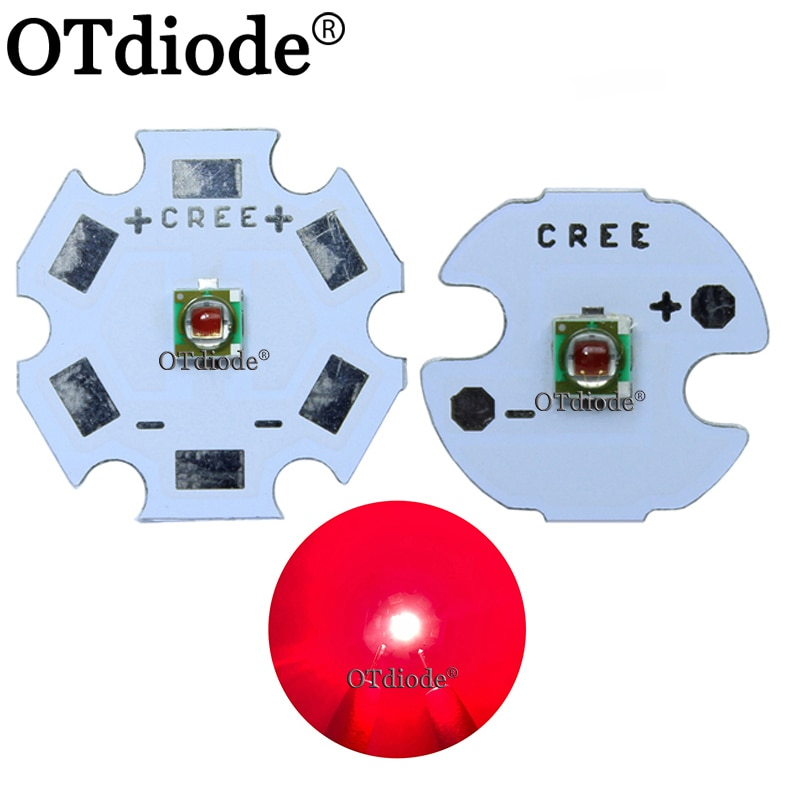 Nuevo 1 Uds XPE foto rojo profundo 660nm LED rojo profundo emisor LED Didoes 20mm/16mm/14mm/12mm/8mm PCB
