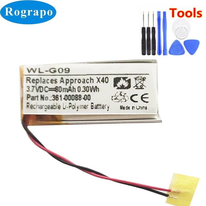 Bateria nova para garmin vivosmart hr/vivosmart hr + 361-00088-00 acumulador 3.7v 80mah batterie 2-wire + tools