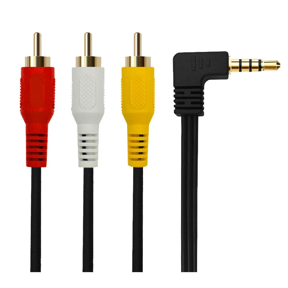 3,5mm Mini AV 3 adaptador macho RCA de Audio y Video Cable de videocámara 6FT