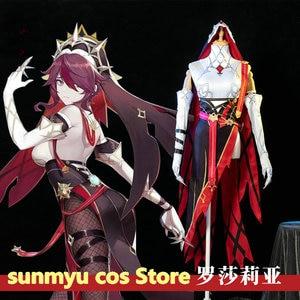 Custom Size Game Genshin Impact Rosaria Cosplay Costume Customize Halloween