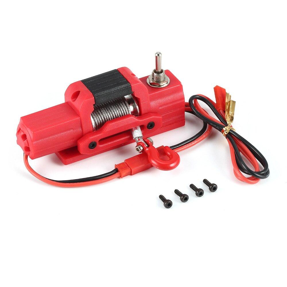 Ax-8050 metal guincho elétrico rc peças de carro acessórios para 1/10 escala axial 4wd scx10 traxxas d90 rc esteira rolante