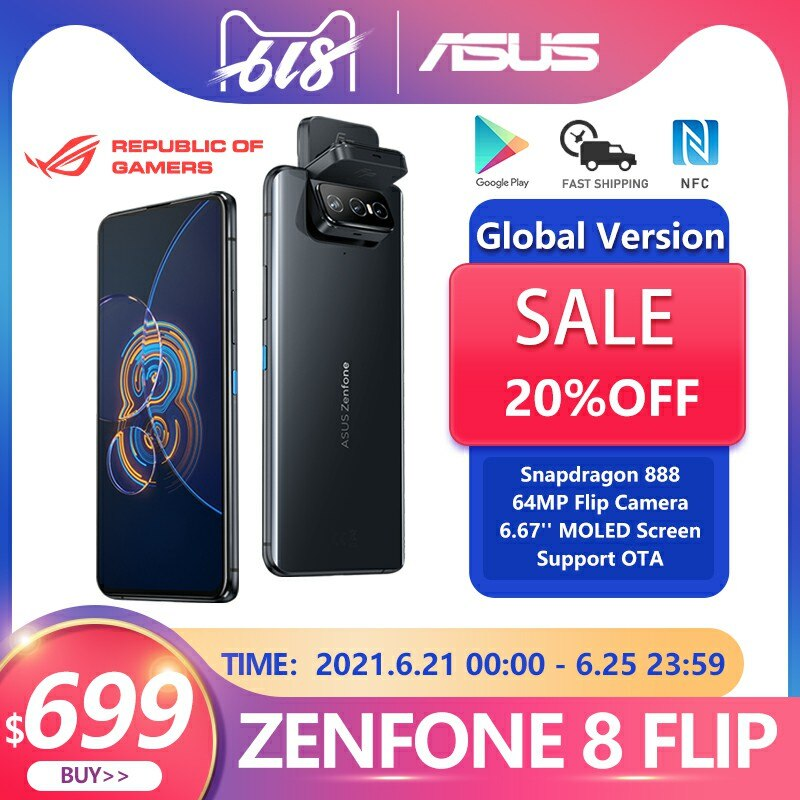 Nuevo ASUS Zenfone 8 Flip versión Global 8GB RAM 128/256GB ROM Snapdragon...