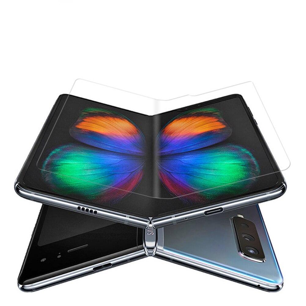 Cubierta completa curvada Protector de pantalla transparente para Samsung Galaxy Fold Ultra fino Anti-rasguño Nano suave película protectora TPU