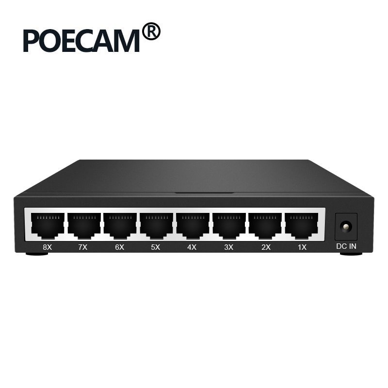 8 منافذ جيجابت POE سلبي ، موسع حاقن PCBA ، مفاتيح غير مُدارة ، وحدة UTP جاك الفاصل ، مفاتيح سعة كاميرا IP