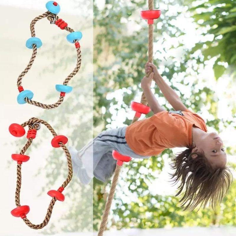 Детская скалолазанная веревка, качели с диском, скалолазанная веревка, детская садовая игровая площадка, уличные качели для игр, комплект о...