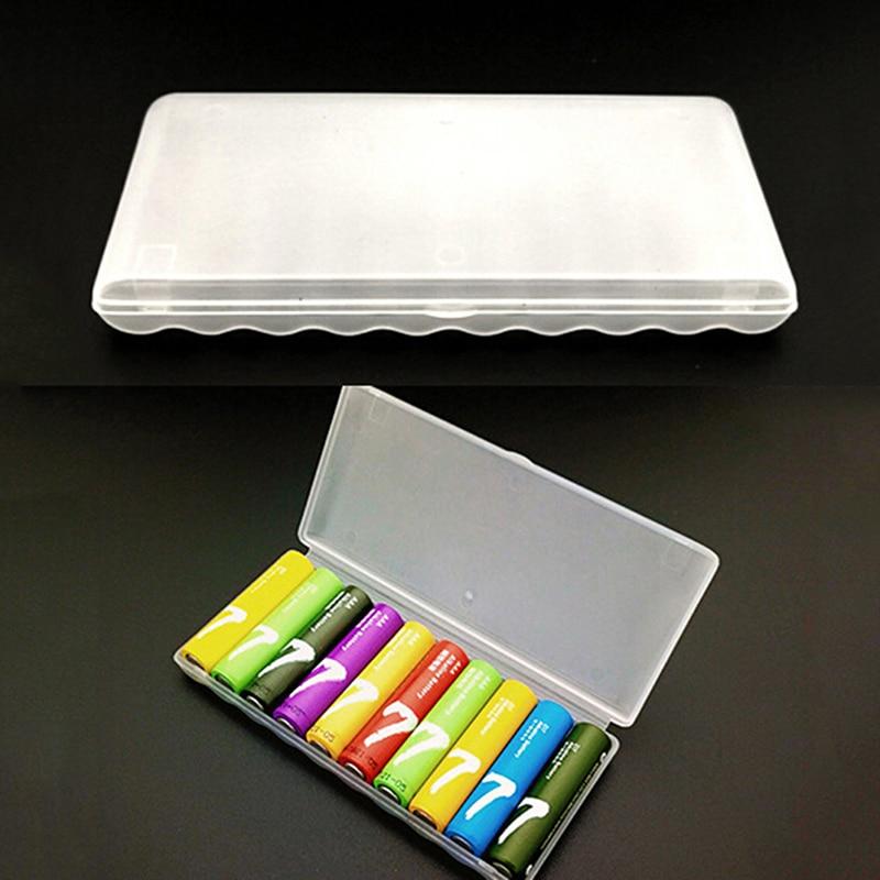 1 adet taşınabilir plastik pil kutusu kapak tutucu saklama kutusu 10 adet AAA piller