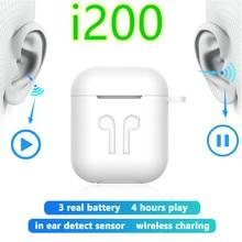 i200 tws 1:1 Replica aire 2 Wireless Earphone Tap Control headset Super Bass Earbuds PK i10 i12 i30 i80 i100 i500 fone de ouvido