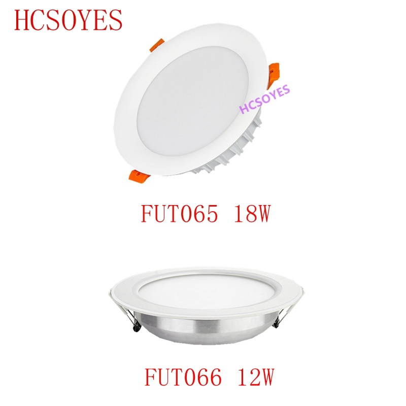 ميبوكسر FUT065 18 واط/FUT066 12 واط RGB + CCT LED النازل سطوع قابل للتعديل AC110 220 فولت درجة حرارة اللون اللاسلكية واي فاي التطبيق