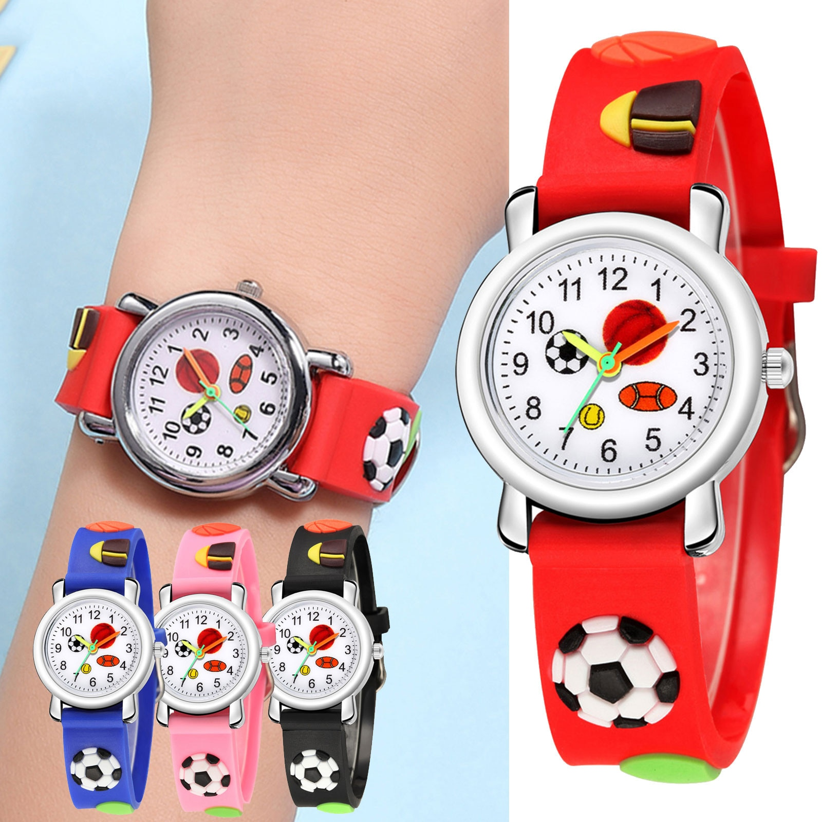 Children Cartoon Wristwatch Orologio Bimbi Watch Silicone Band Analog Dial Quartz Watches Kids Wrist