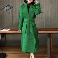 real fur coat women wool jacket spring autumn coat women clothes 2020 korean woolen overcoat long casaco abrigo mujer yy1925
