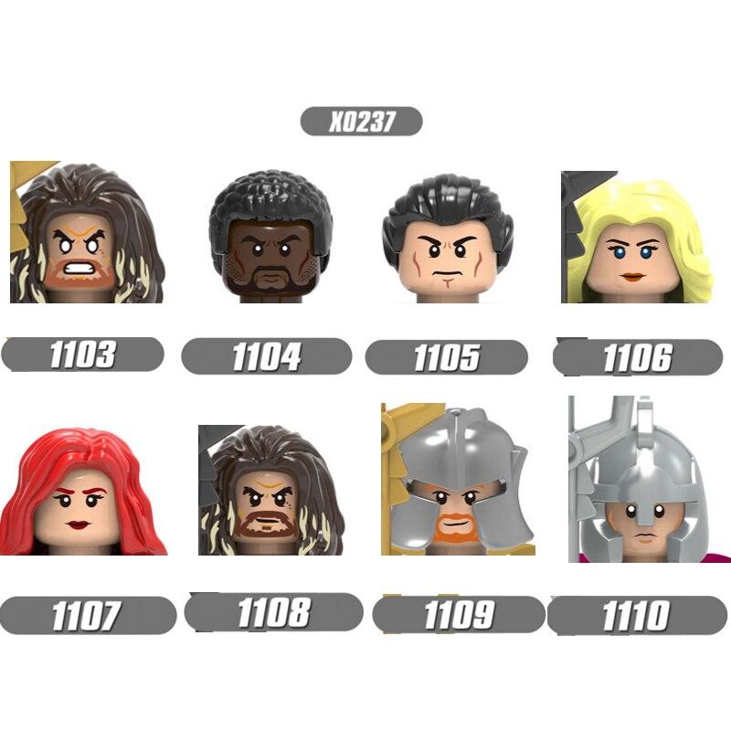 Фигурки героев фильма 2021, фигурки героев, модель, строительные блоки, фигурки, голова, кирпич, «сделай сам», развивающие игрушки для детей, по...
