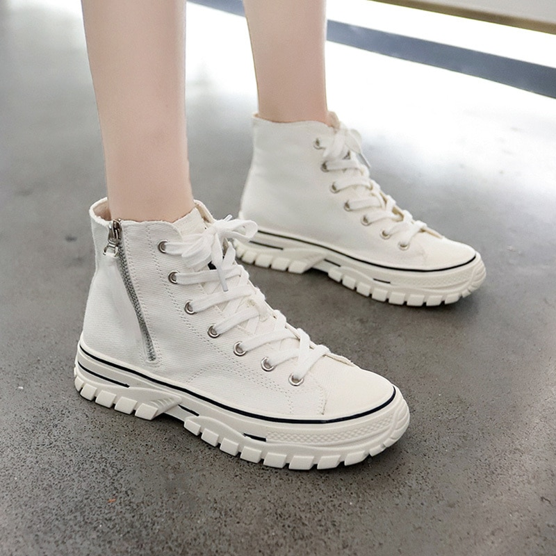 Women's vulcanized shoes canvas sneakers color women casual shoes comfortable breathable flats shoes