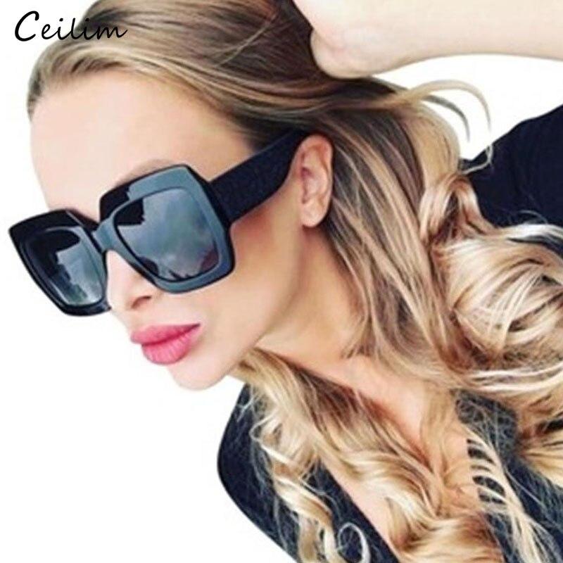 2020 gafas de sol de lujo grande y cuadrado de marca de diseñador Retro claro gafas de sol para mujer negro de talla grande gafas de sol UV400