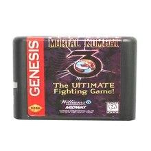 Mortal Kombat 3 The Ultimate Fighting Game 16 Bit Game Card For Sega Mega Drive & Sega Genesis