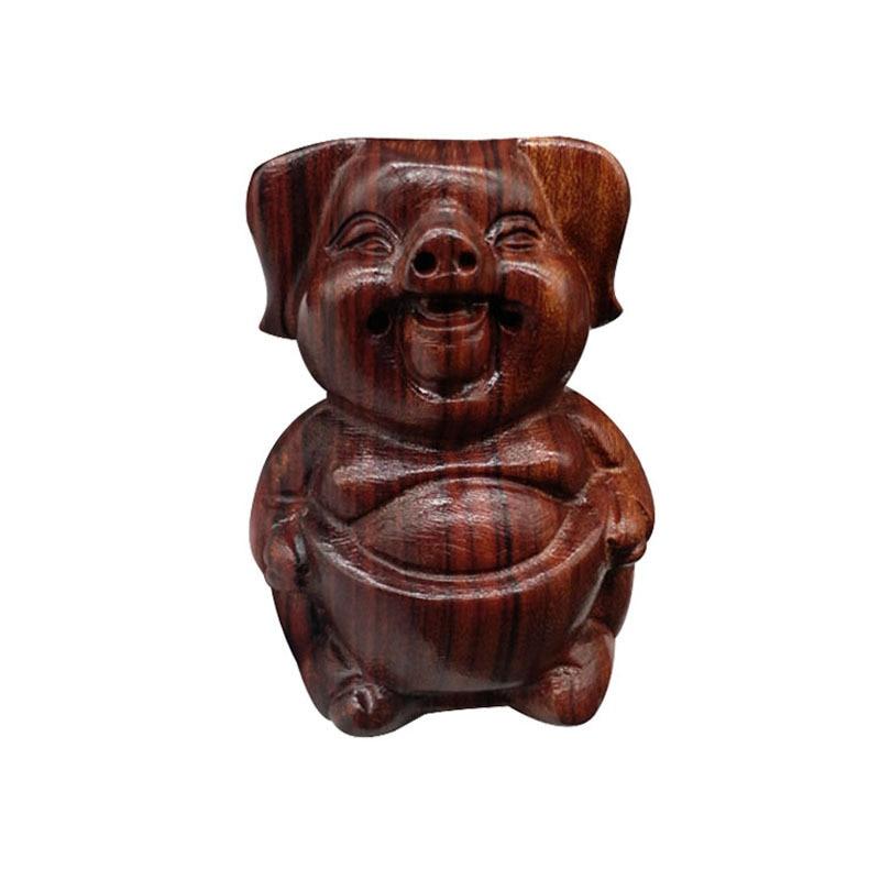 ZOCDOU 1 Piece Padauk Wood Carving China Antique Faith Model Small Statue Little Figurine Crafts Figure Ornament Miniatures