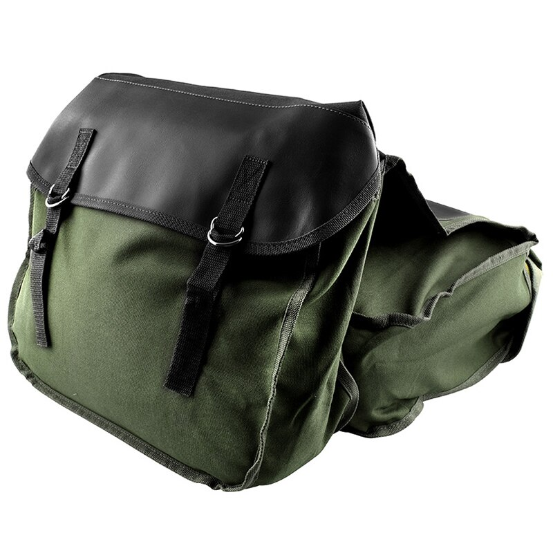 Motorcycle Saddle Bags Panniers for Honda Yamaha Suzuki Sportster Kawaski Scooter Bag,Green